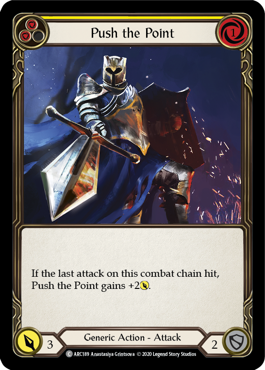 Push the Point (Yellow) | Common [Rainbow Foil] - Unlimited