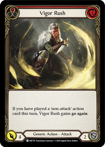 Vigor Rush (Red) | Common [Rainbow Foil] - Unlimited