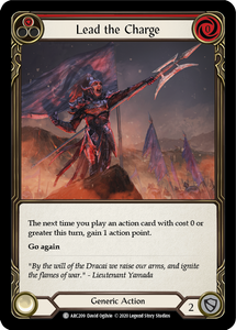 Lead the Charge (Red) | Common [Rainbow Foil] - Unlimited