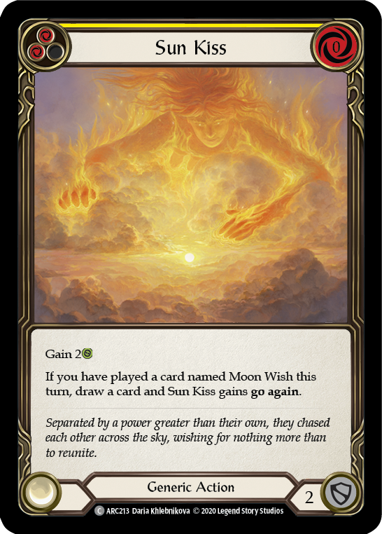 Sun Kiss (Yellow) | Common [Rainbow Foil] - Unlimited