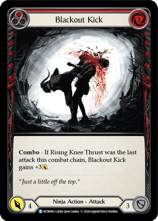 Blackout Kick (Red) | Rare [Rainbow Foil] - Unlimited