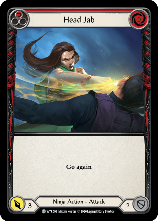Head Jab (Red) | Common [Rainbow Foil] - Unlimited