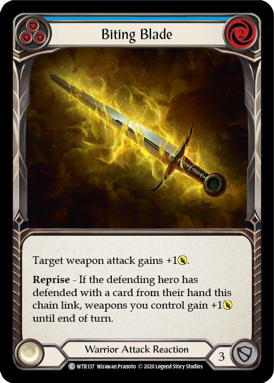 Biting Blade (Blue) | Common [Rainbow Foil] - Unlimited