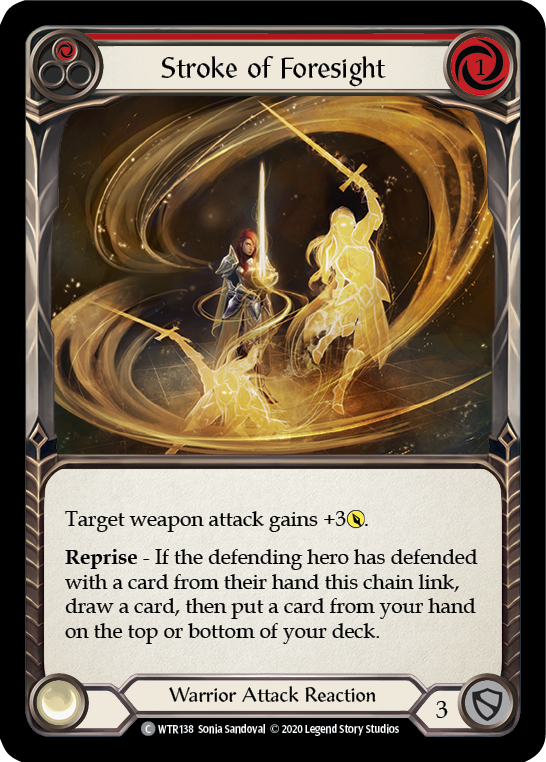 Stroke of Foresight (Red) | Common [Rainbow Foil] - Unlimited