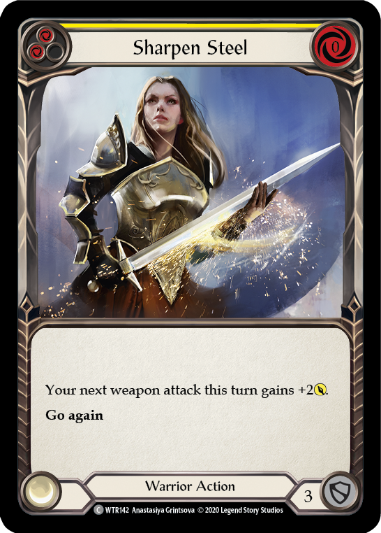 Sharpen Steel (Yellow) | Common [Rainbow Foil] - Unlimited