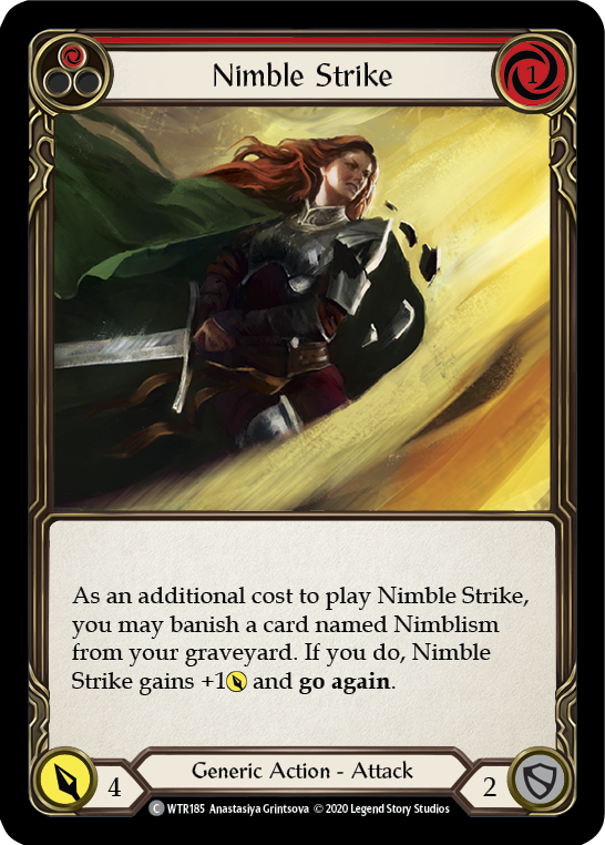 Nimble Strike (Red) | Common [Rainbow Foil] - Unlimited