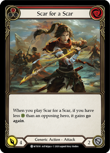Scar for a Scar (Red) | Common [Rainbow Foil] - Unlimited