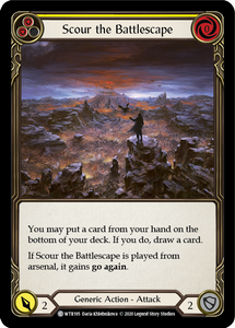 Scour the Battlescape (Yellow) | Common [Rainbow Foil] - Unlimited