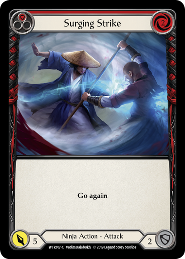 Surging Strike (Red) | Common [Rainbow Foil] - Alpha Print