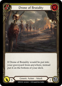 Drone of Brutality (Yellow) | Rare [Rainbow Foil] - Alpha Print