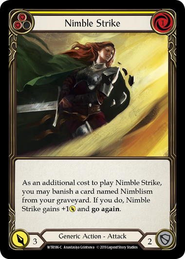 Nimble Strike (Yellow) | Common [Rainbow Foil] - Alpha Print