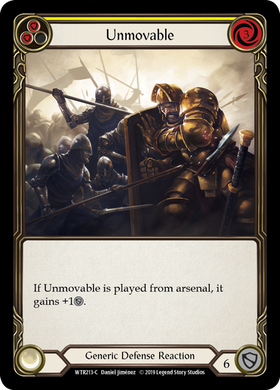 Unmovable (Yellow) | Common [Rainbow Foil]