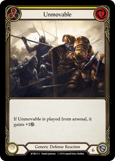 Unmovable (Yellow) | Common [Rainbow Foil] - Alpha Print