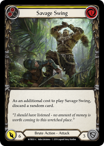 Savage Swing (Yellow) | Common [Rainbow Foil] - Alpha Print