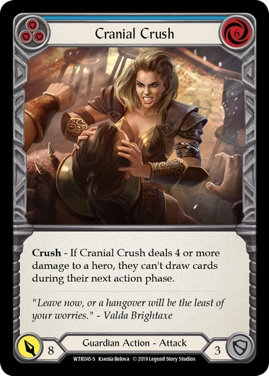Cranial Crush | Super Rare [Rainbow Foil] - Alpha Print