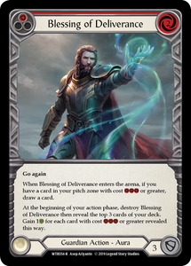 Blessing of Deliverance (Red) | Rare [Rainbow Foil] - Alpha Print