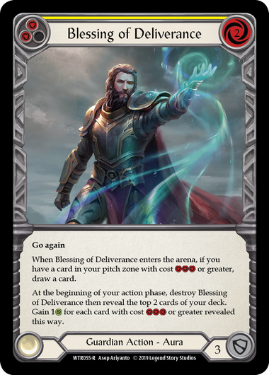 Blessing of Deliverance (Yellow) | Rare [Rainbow Foil] - Alpha Print
