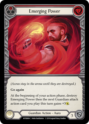 Emerging Power (Red) | Common [Rainbow Foil] - Alpha Print