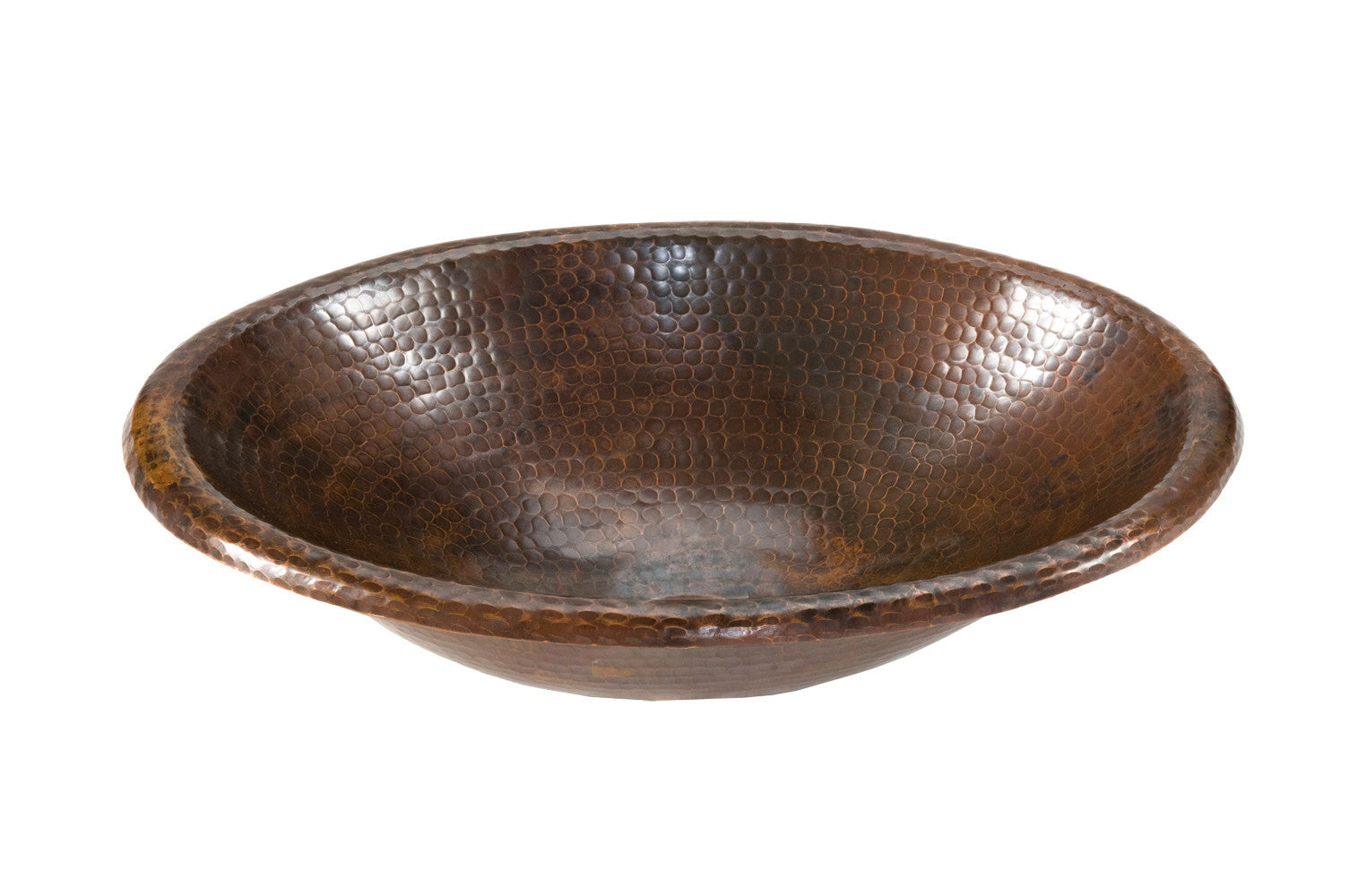 Bathroom Sinks   Small Oval Self Rimming Hammered Copper Sink ...