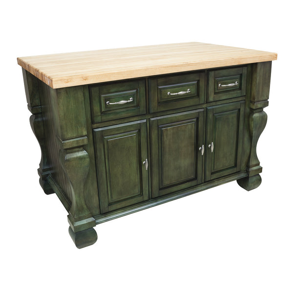 Kitchen Island Accessories: Hardware Resources ISL01 Kitchen Island, Aqua Green