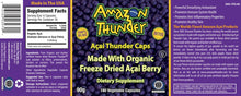 Load image into Gallery viewer, Organic and Kosher Certified PURE Freeze Dried Açai Berry Powder Capsules.  Detox and immunity support!