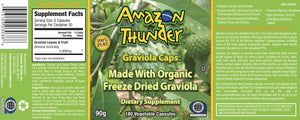 Organic and Kosher Certified Freeze Dried PURE Soursop /  Graviola Capsules