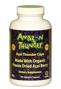 Organic and Kosher Certified PURE Freeze Dried Açai Berry Powder Capsules.  Detox and immunity support!