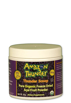 Organic and Kosher Certified PURE Freeze Dried Açai Berry Powder Scoop.  Detox and immunity support!