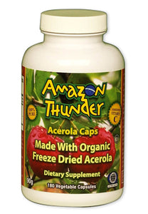 Organic & Kosher Freeze Dried PURE Acerola Cherry Capsules.  Massive immune system support!