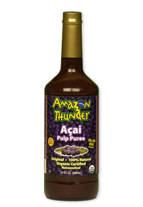Potent Detox 20,000 Orac units per serving - Organic and Kosher Certified PURE Açai Berry Pulp Puree Liquid.  Great immunity support!