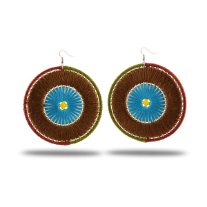 handmade, multicolor lightweight statement earrings