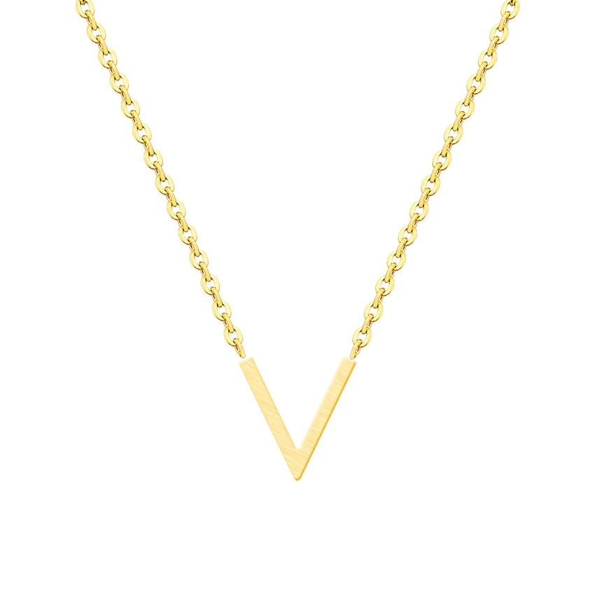 Elegant Gold Plated V Line Necklace