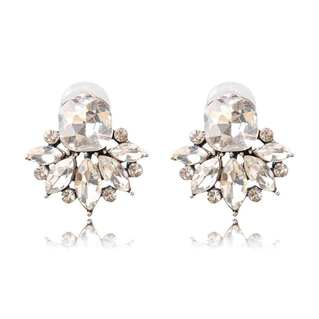 Gorgeous Opal, Crystal, Glass & Rhinestone Stud Earrings