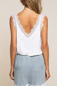 Lace Trim Camisole (Pink)