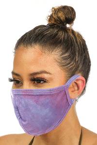 Purple Tie Dye Face Mask