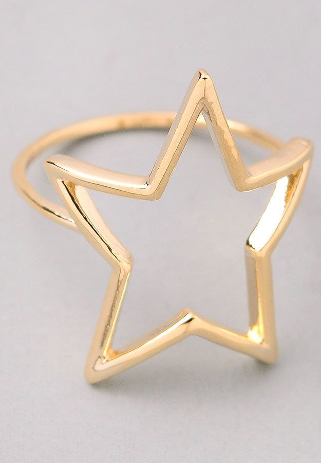 Star Cut Out Ring (Gold)