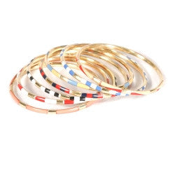 Multi-Colored Skinny Bangles - Set of 7