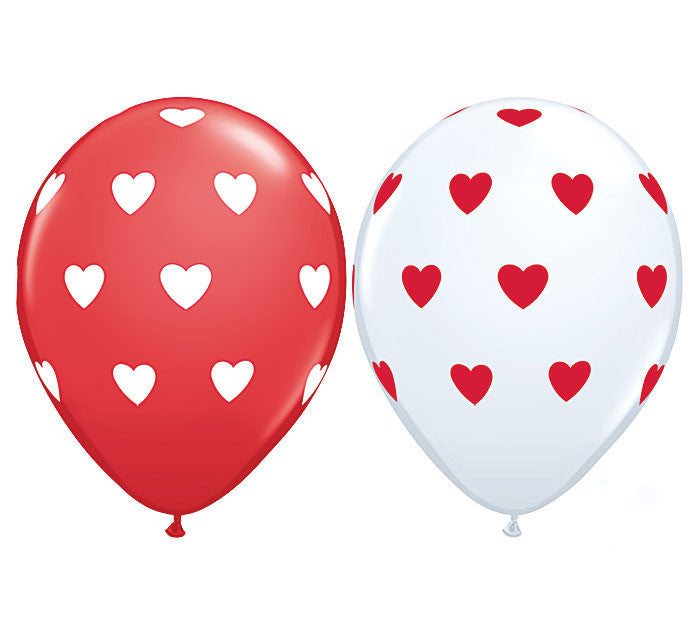 Heart Balloons - 6pk Assorted