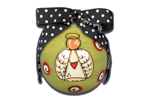 Ceramic Angel Ornament with Bow