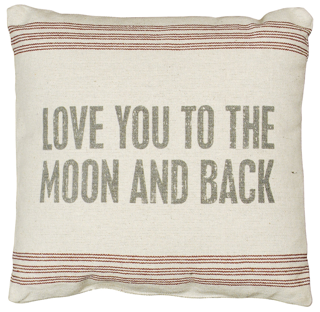 To the Moon.. Linen Pillow