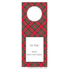 Bottle Tags - Red Plaid