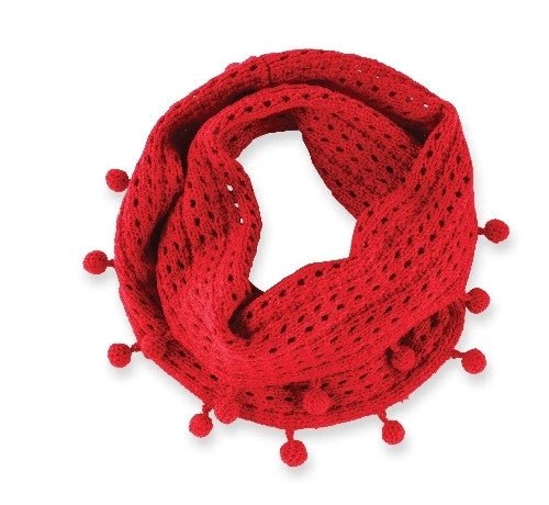 Pom Infinity Scarf - 3 color options!