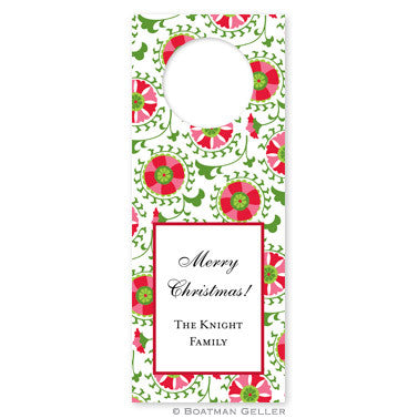 Bottle Tags - Suzani Holiday