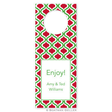 Bottle Tags - Kate Kelly & Red
