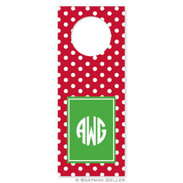 Bottle Tags - Polka Dot Cherry
