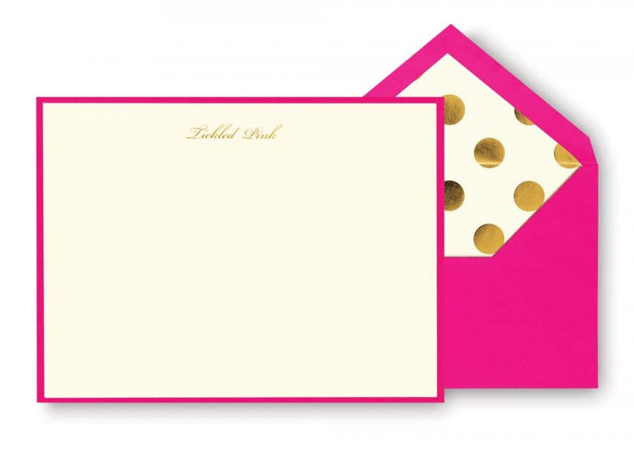 Correspondence Cards - Tickled Pink