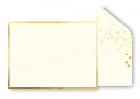 Kate Spade - Correspondence Cards - Gold Dots