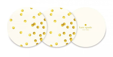 Kate Spade - Coaster Set - Gold Dots
