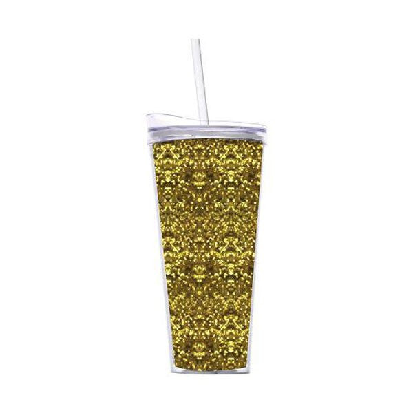 Gold Glitter Double Wall Tumbler
