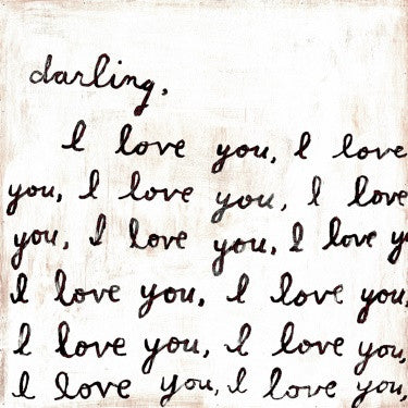 "Darling, I Love You - Gallery Wrap Art Print 24""x 24"""
